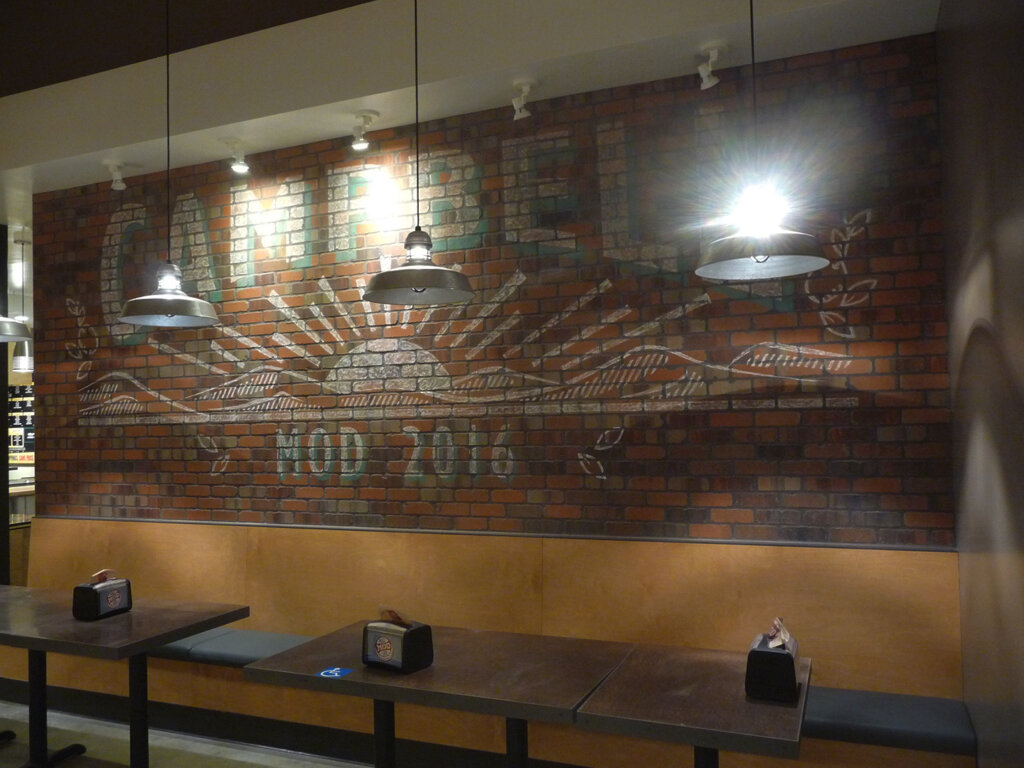 Campbell custom restaurant sign mod pizza
