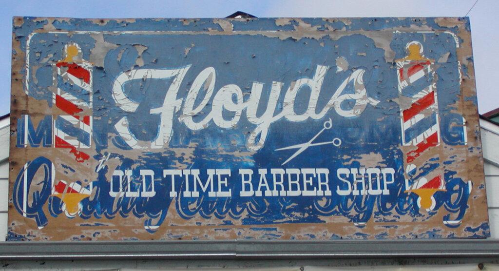 Campbell custom salon signs lloyds barber shop before