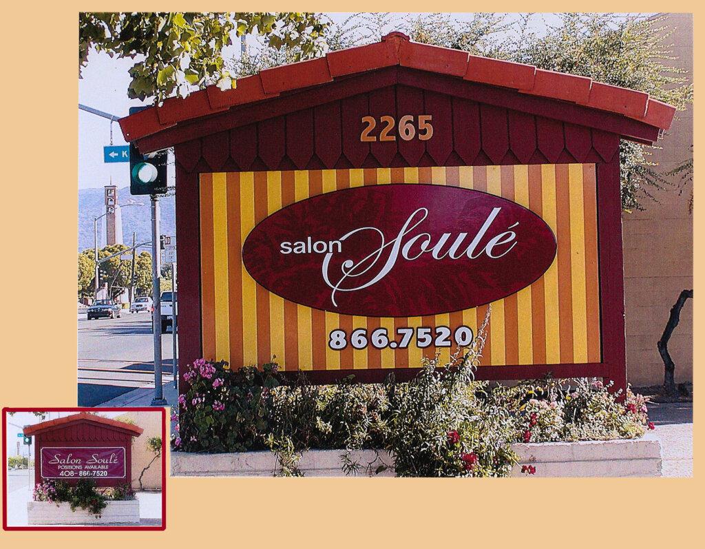 Campbell custom salon signs soule