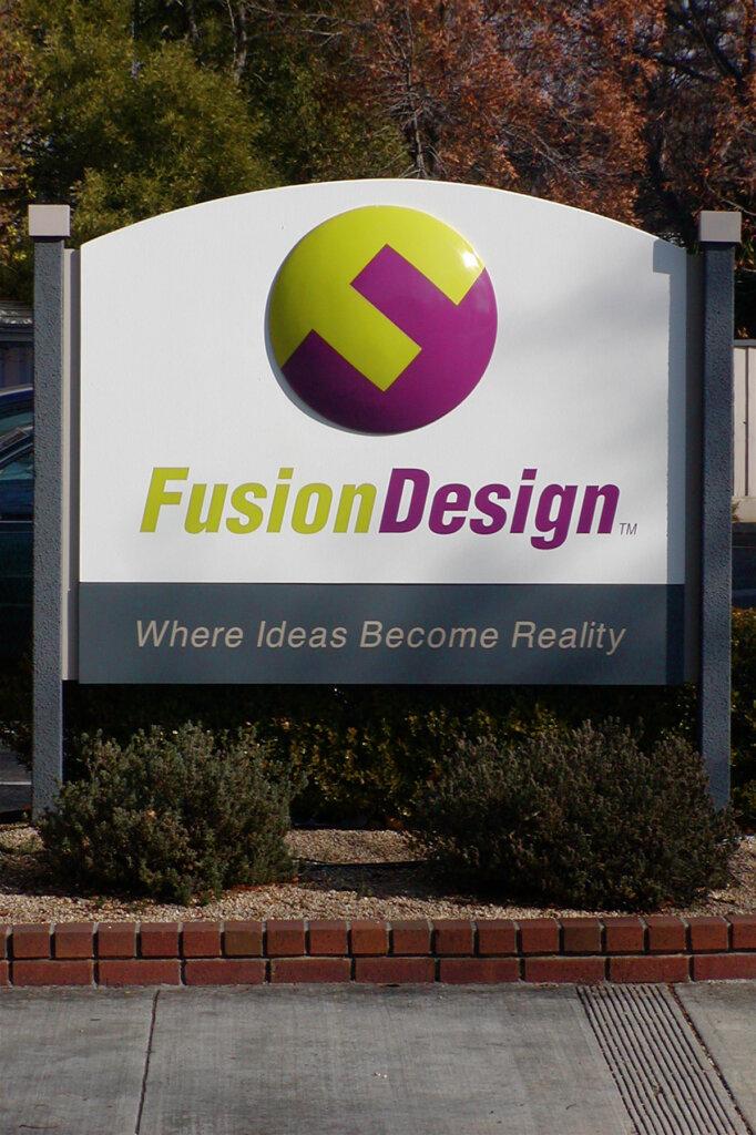 Campbell custom signs fusion design