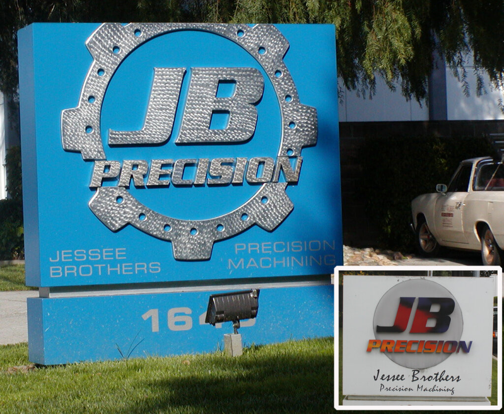 Campbell dimensional letters monument sign JD precision machining