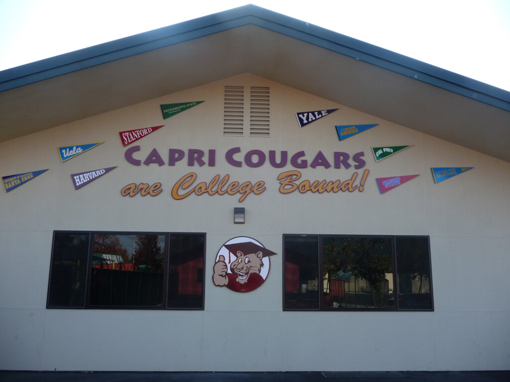 Campbell school signs capri elementary mascots california