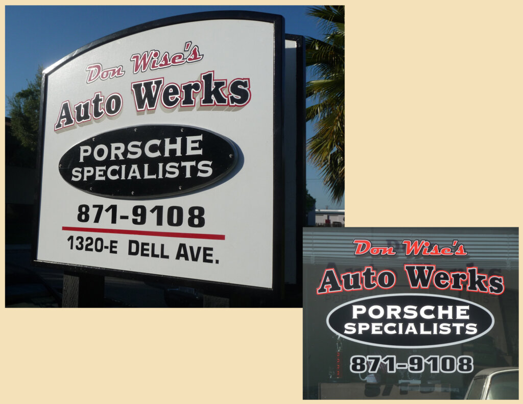 Campbell signs automotive don wise auto werks