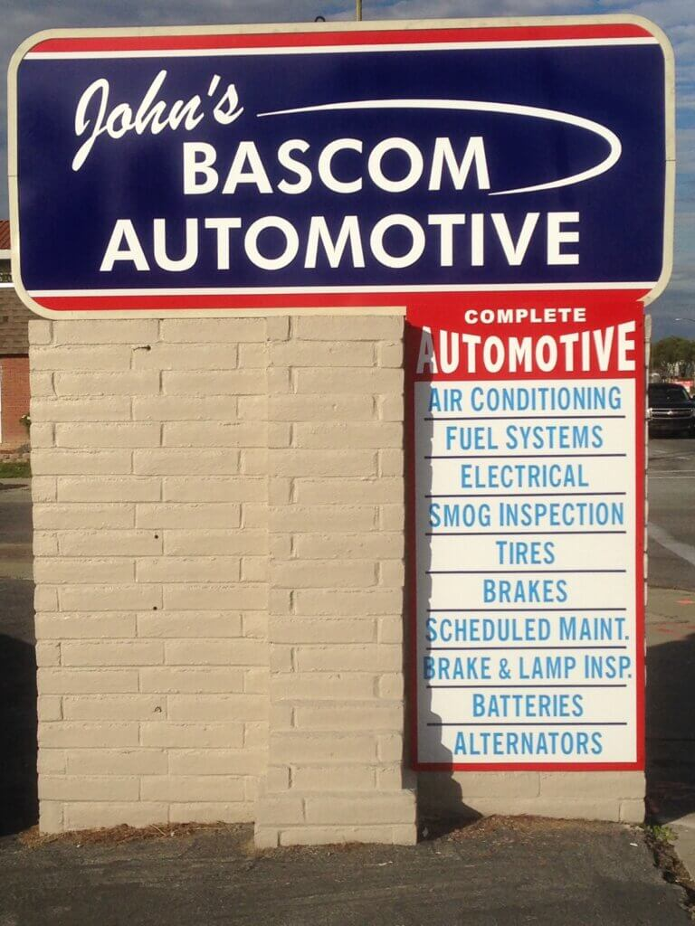 Campbell signs johns bascom automotive shop
