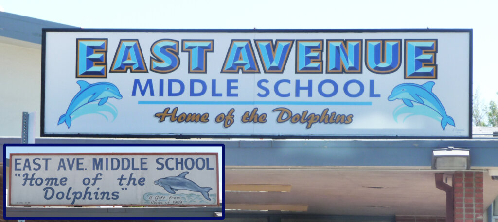 Livermore school signs east avenue middle mascot california