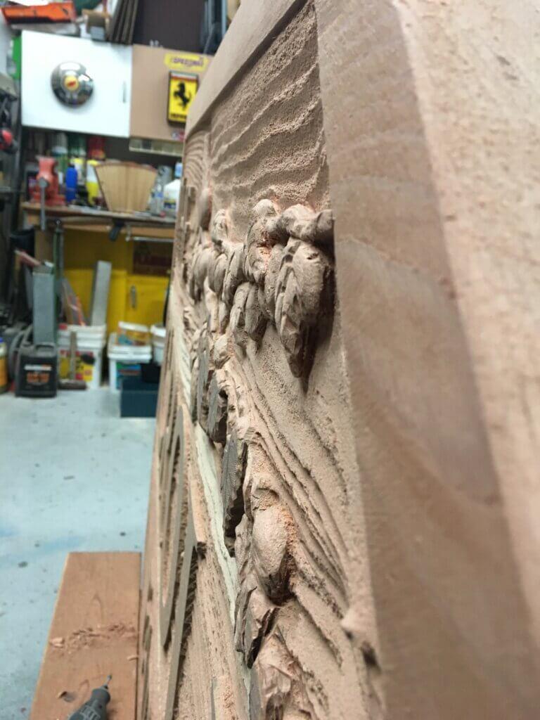 Los Altos Hills custom signs carved croll farm side view