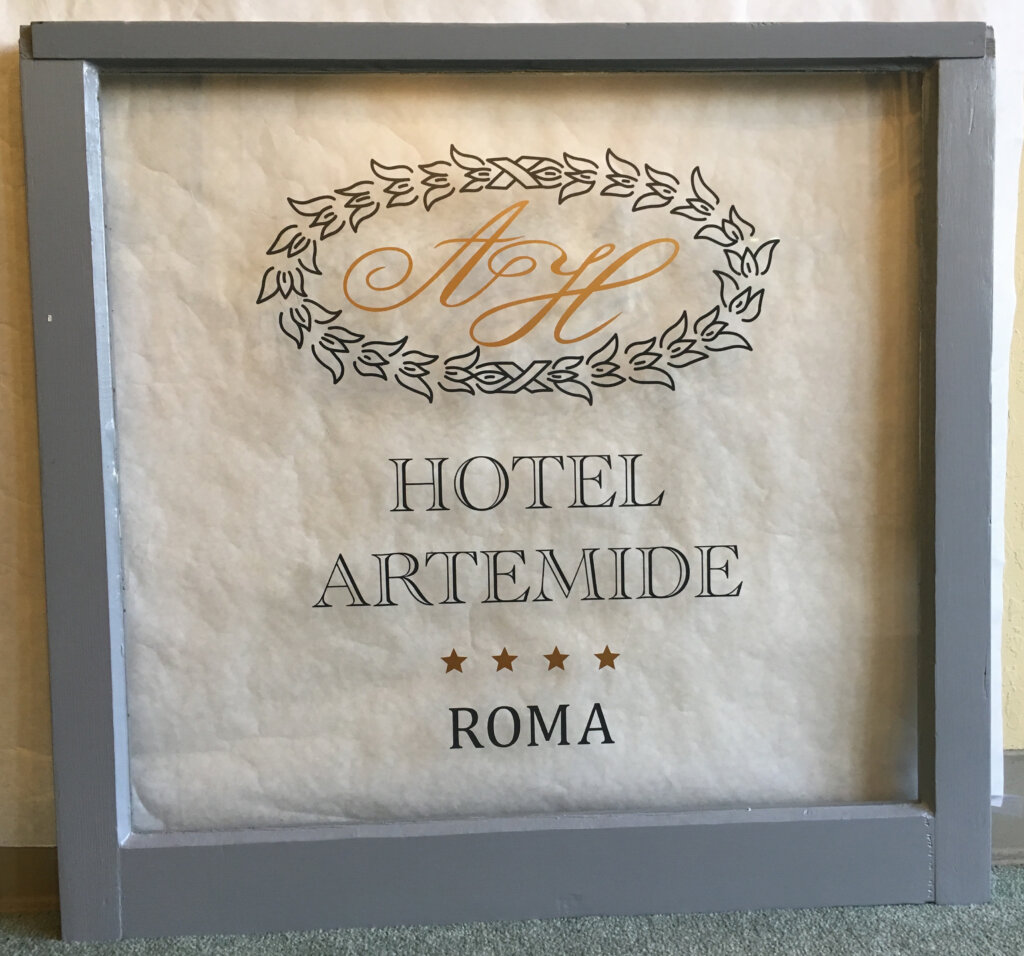 Los Altos hand painted signs hotel artemide