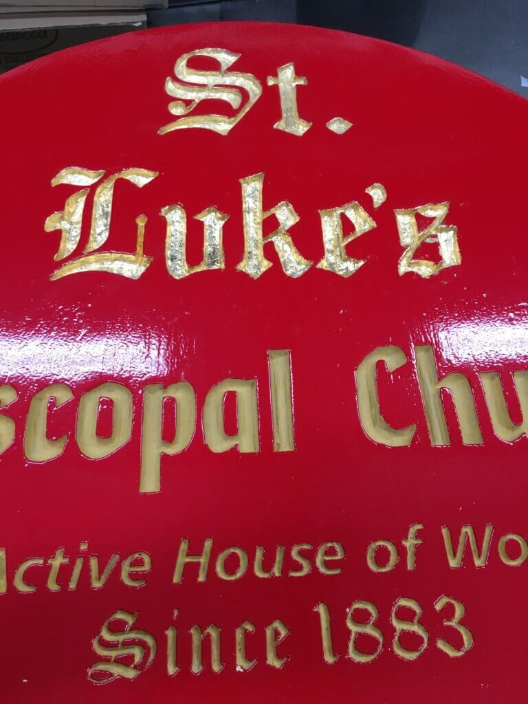 Los Gatos church signs lukes episcopal zoomed in