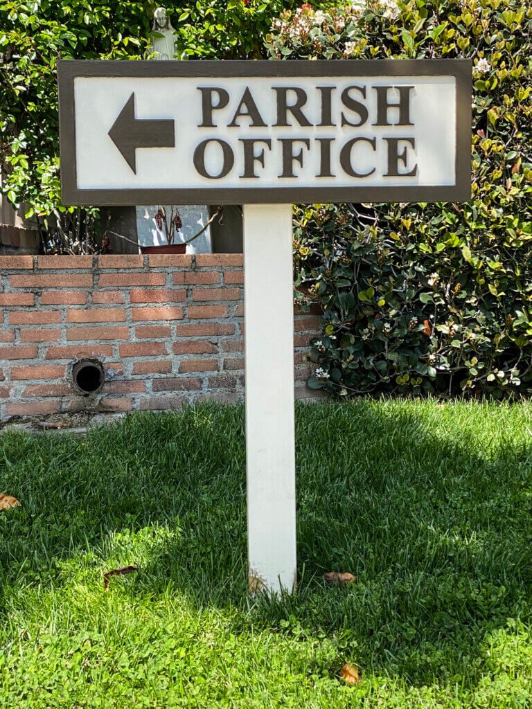 Los Gatos church signs parish office