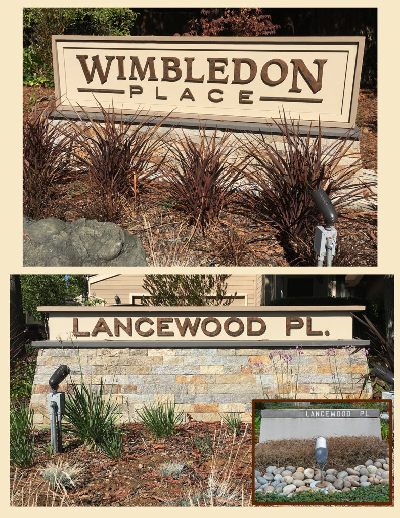 Los Gatos custom signs shop wimbleton place
