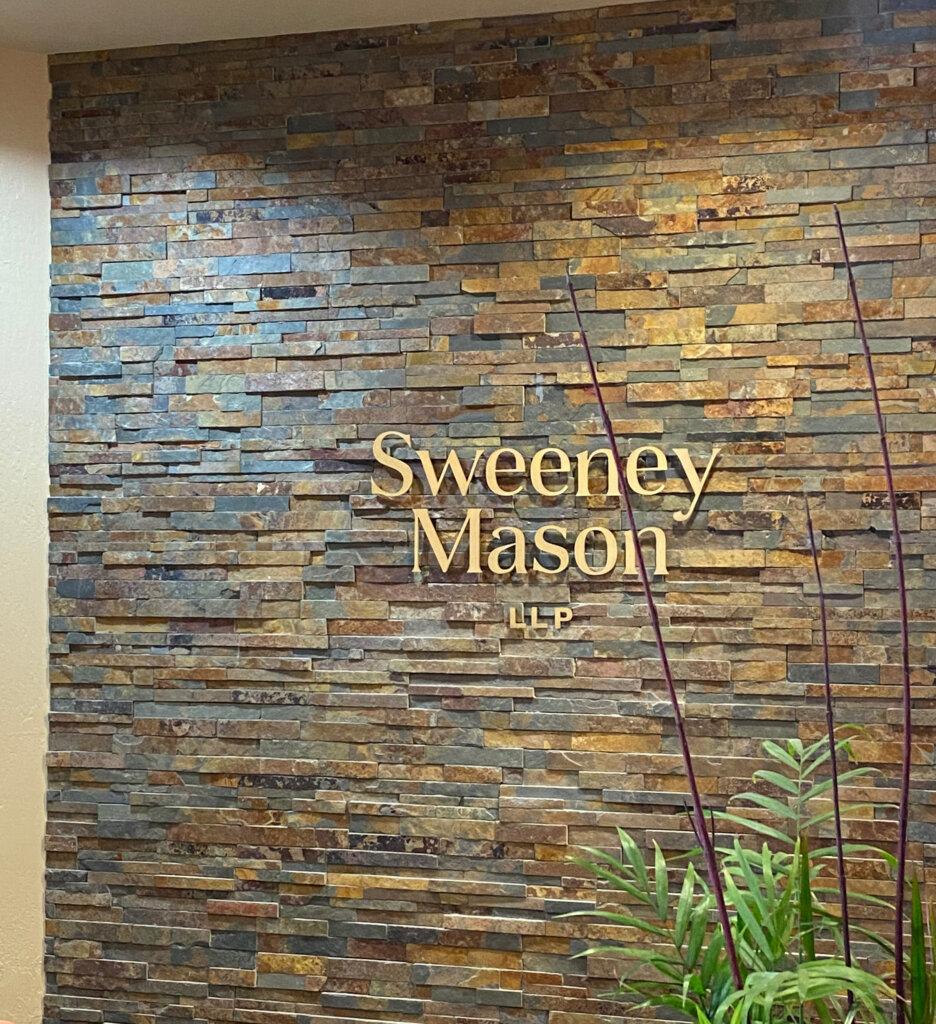 Los Gatos dimensional letters sign Sweeney Mason Wilson Bosomworth after