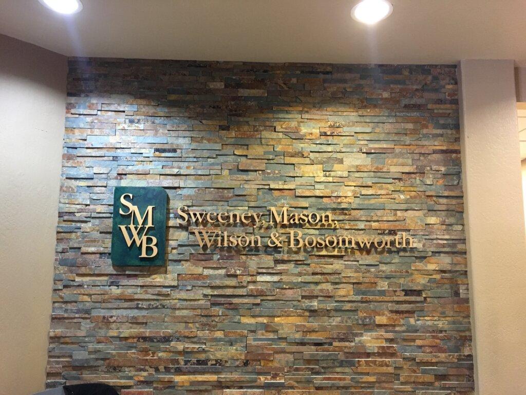 Los Gatos dimensional letters sign Sweeney Mason Wilson Bosomworth before