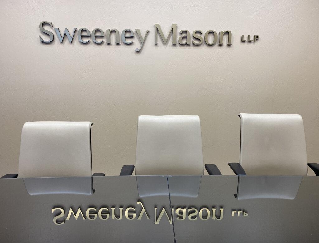 Los Gatos dimensional letters sign Sweeney Mason Wilson Bosomworth board room front