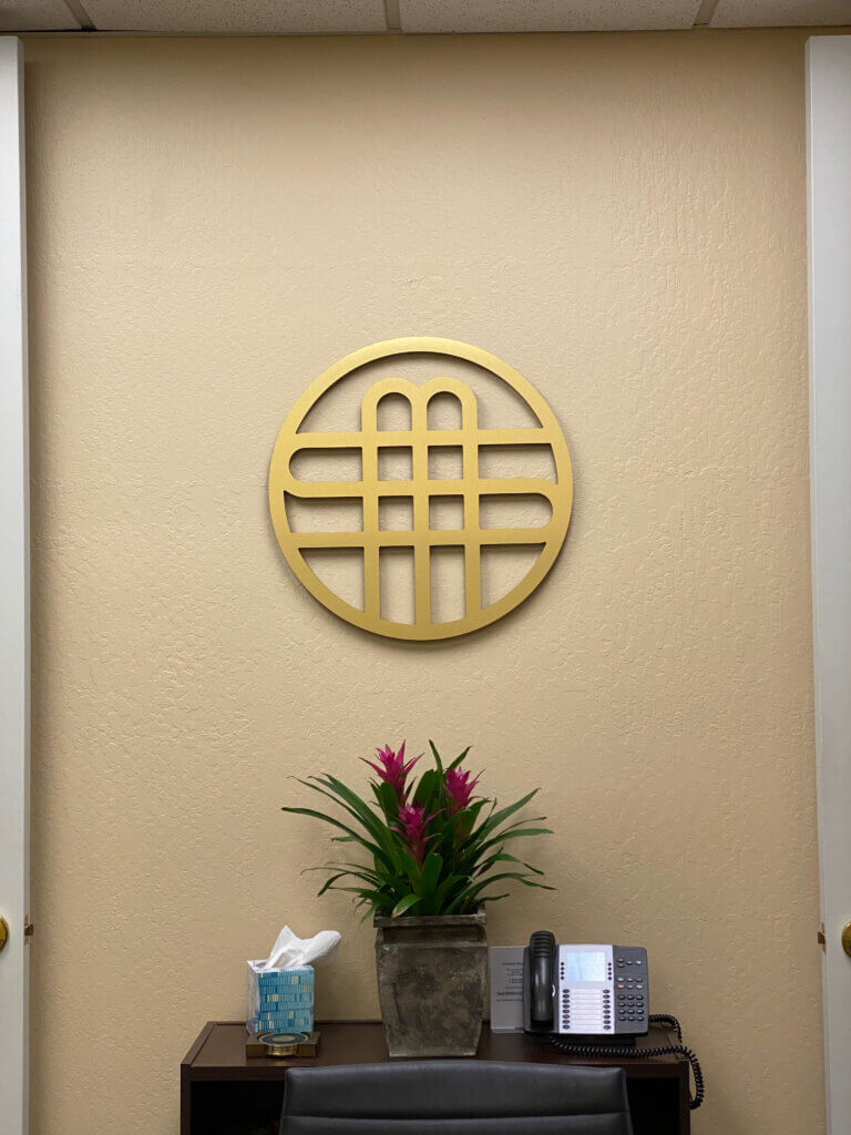 Los Gatos dimensional letters sign Sweeney Mason Wilson Bosomworth conference room