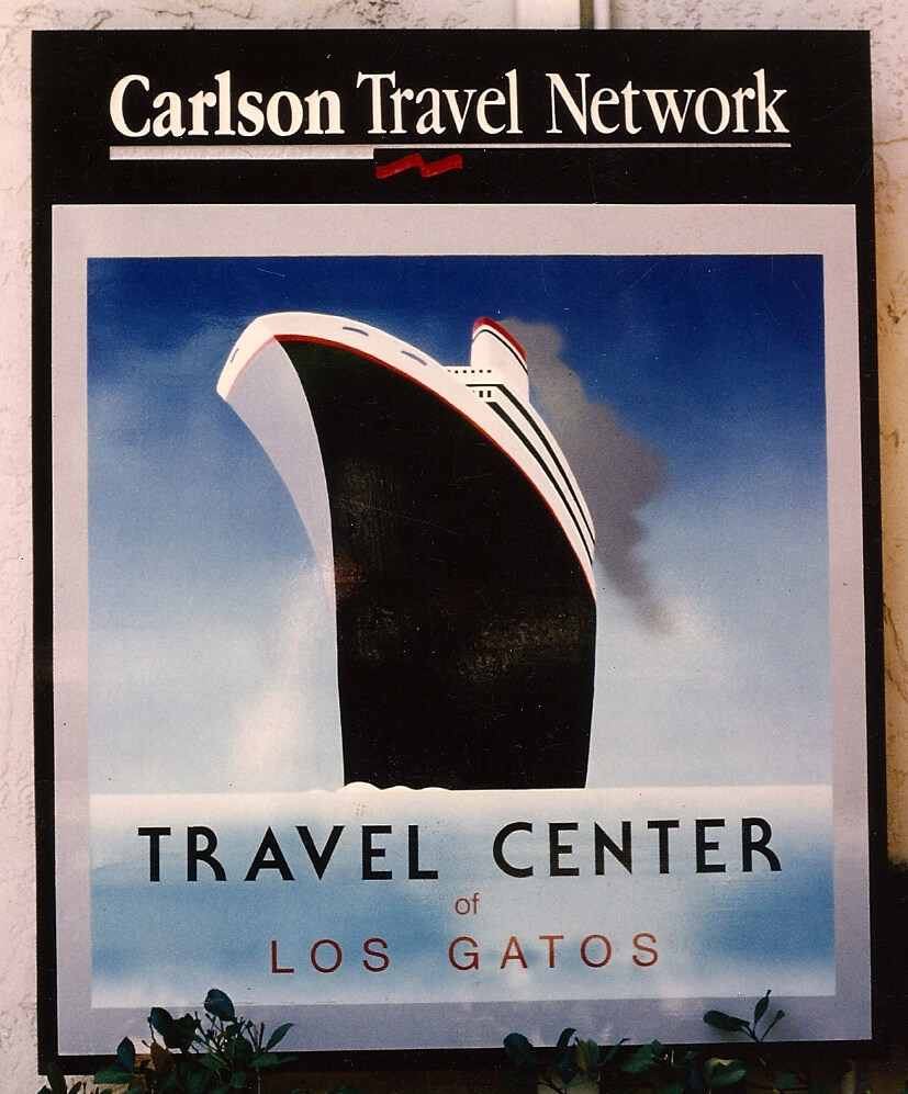Los Gatos hand painted signs carlson travel network