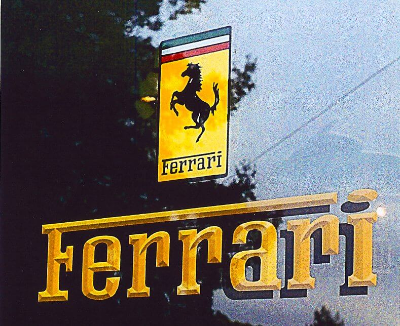 Los Gatos hand painted signs ferrari
