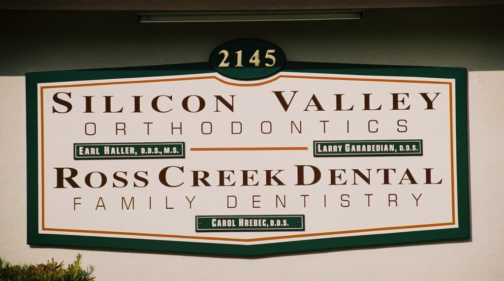 Los Gatos hand painted signs silicon valley orthodontics ross creek dental