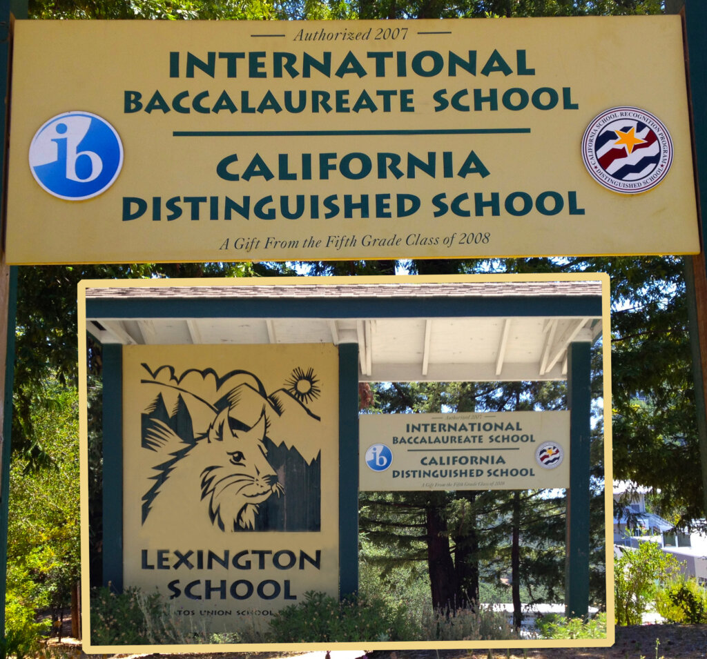 Los Gatos school signs lexington award california distinguished