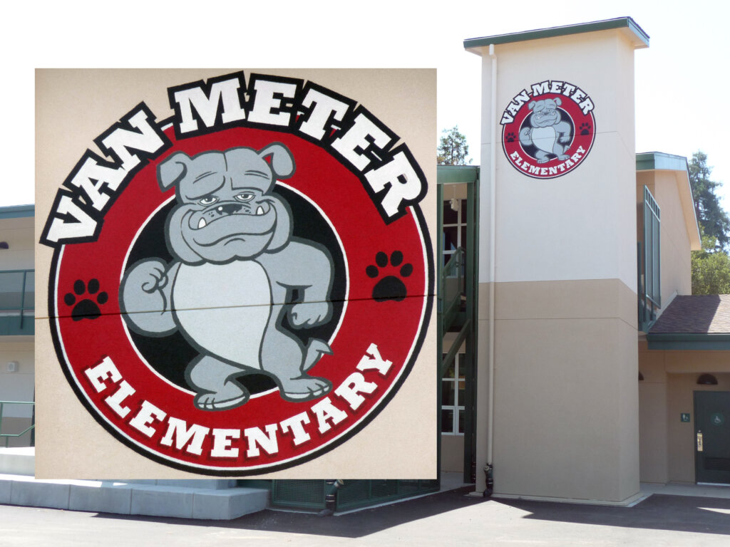 Los Gatos school signs van meter elementary california