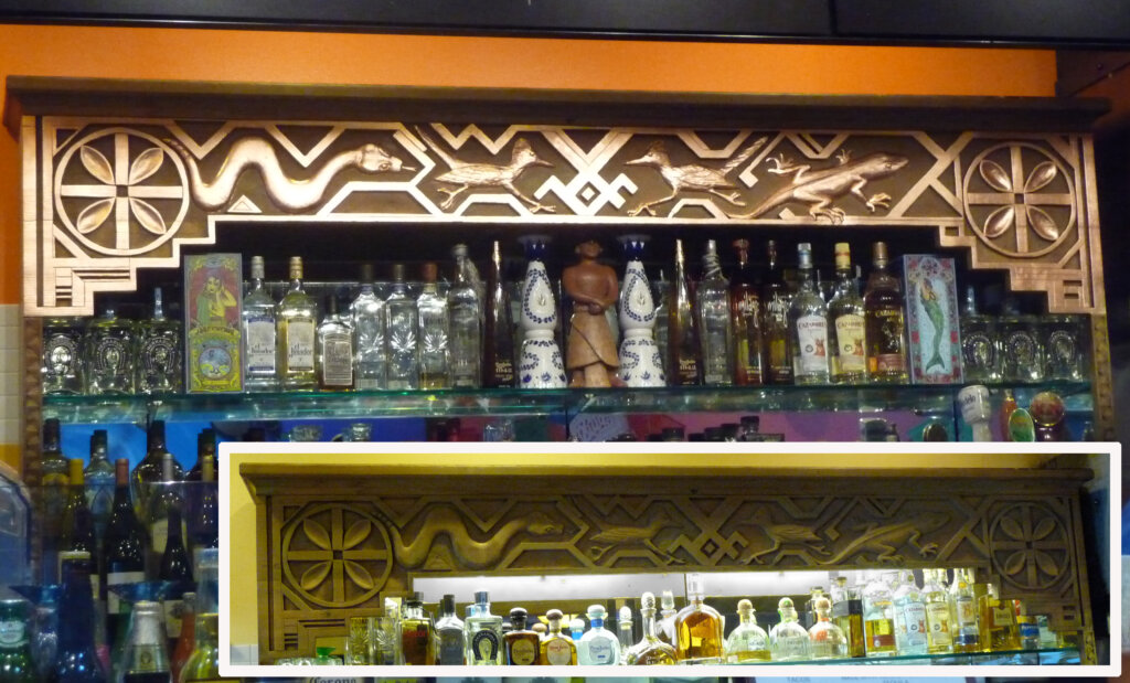 Los Gatos signs gold leafing andale mexican restaurant bar