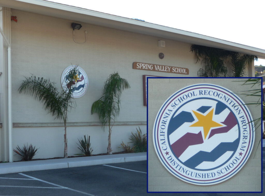 Millbrae school signs spring valley california distinguished school