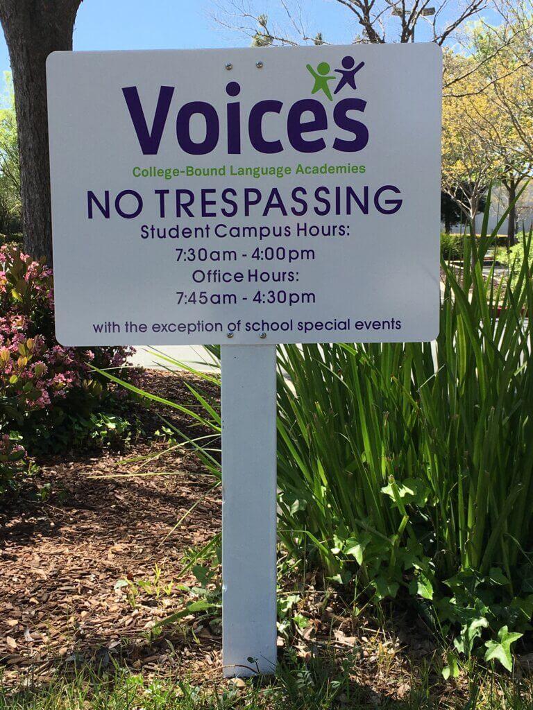 Morgan Hill custom signs voices language academics