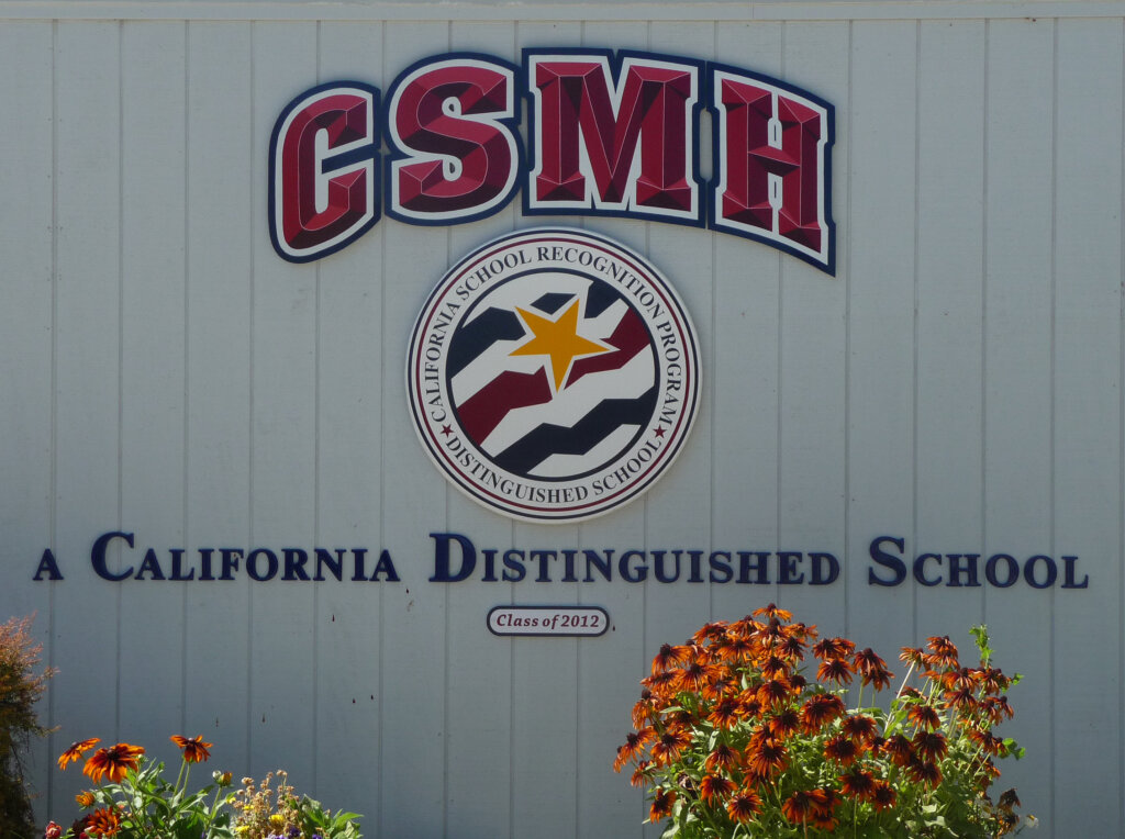 Morgan Hill school signs morgan hill charter award california distinguished