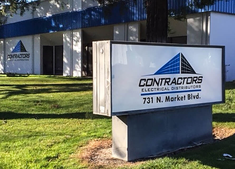 Sacramento custom signs contractors electrical distributors monument