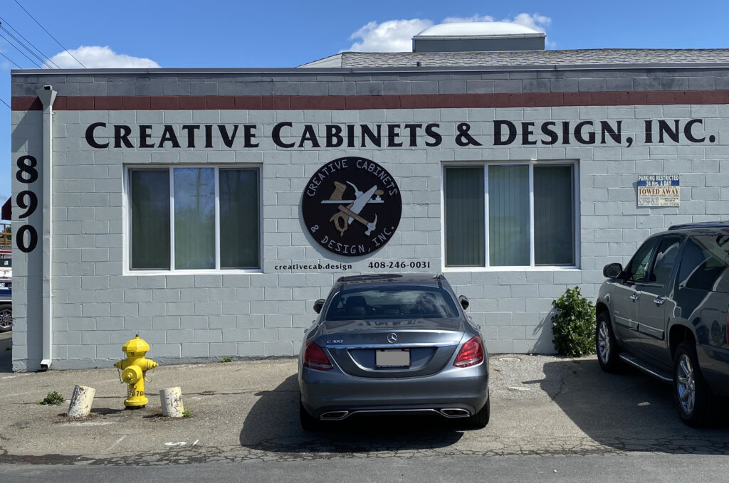 San Jose custom signs creative cabinets design painted wall