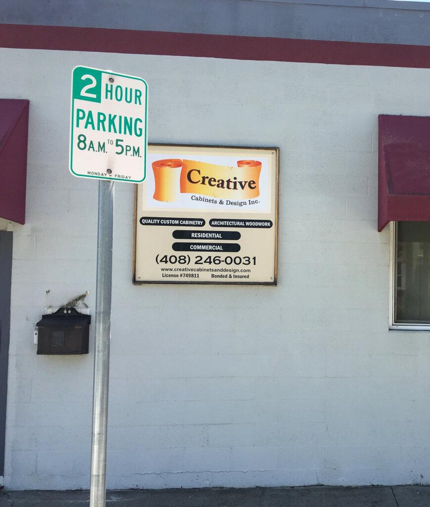 San Jose custom signs creative cabinets design small