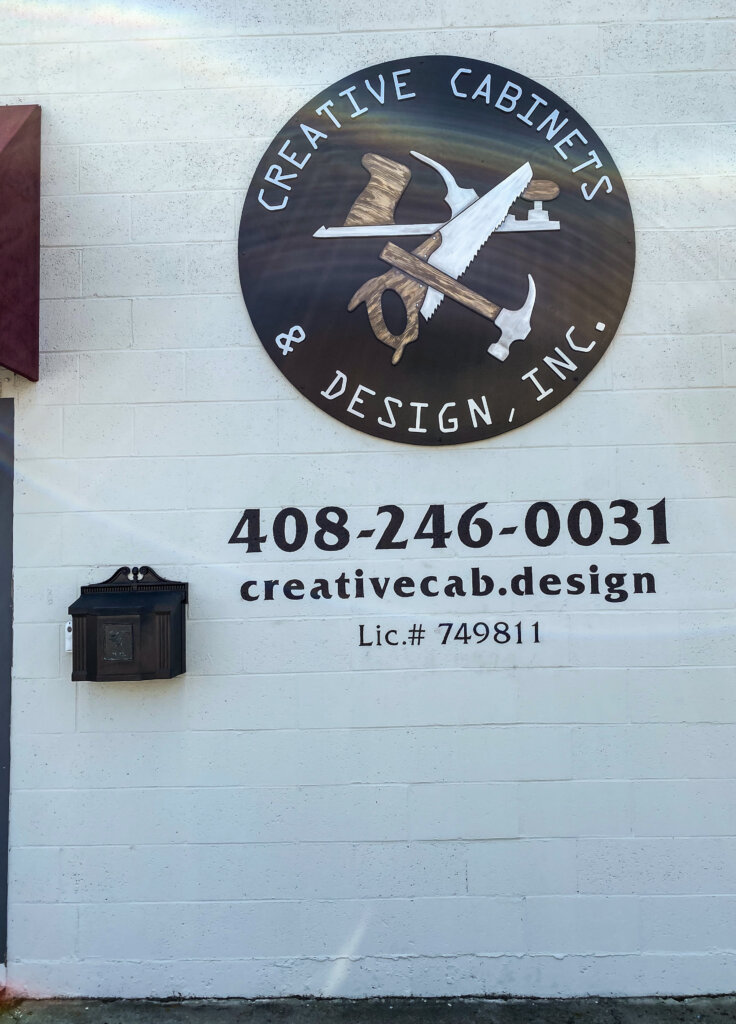 San Jose dimensional letters sign creative cabinets design front after