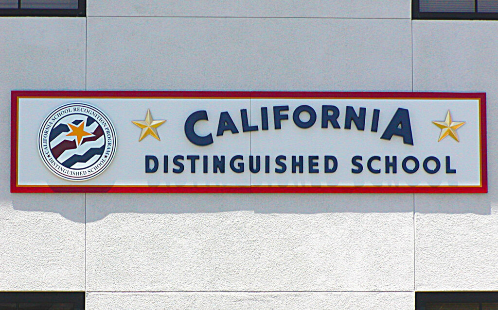San Jose school signs canoas elementary california distinguished