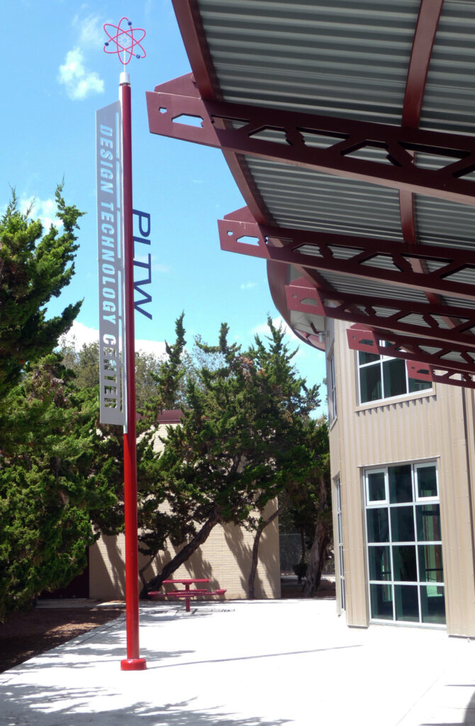 school signs custom exterior design high