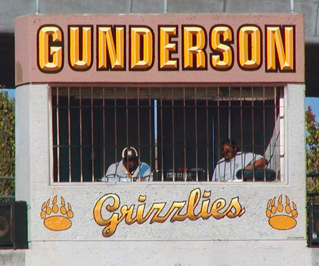 San Jose school signs gunderson grizzlies press box