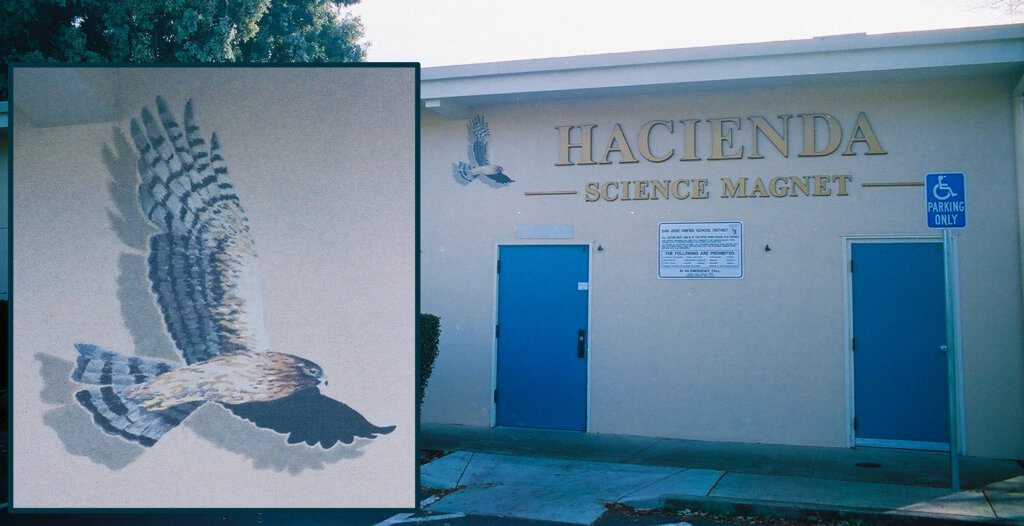 San Jose school signs hacienda hawks custom california