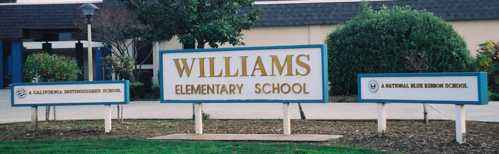 San Jose school signs williams elementary school california