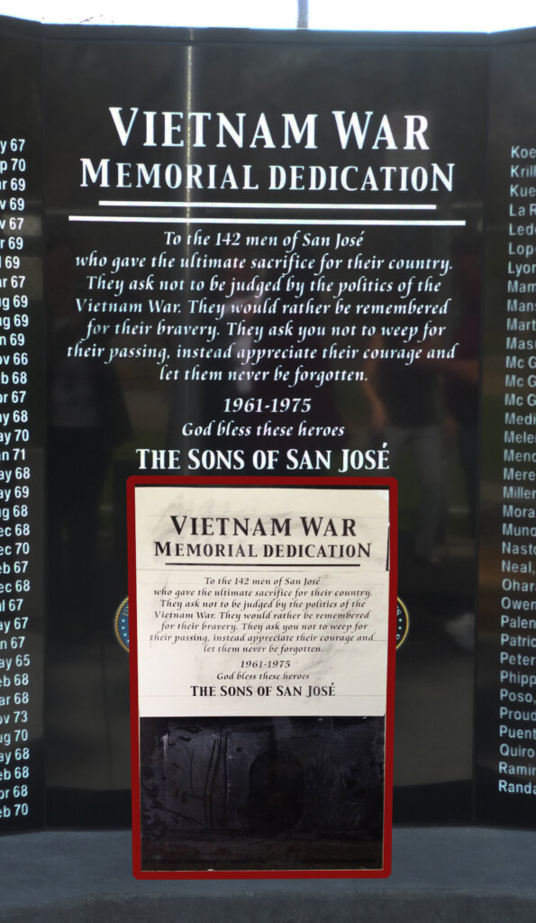 San Jose sign company vietnam war memorial dedication