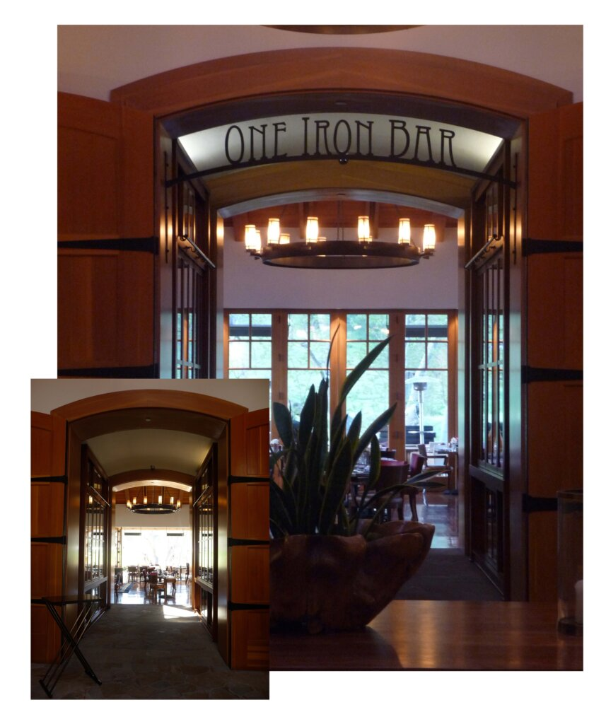 San Martin dimensional letters sign one iron bar entrance