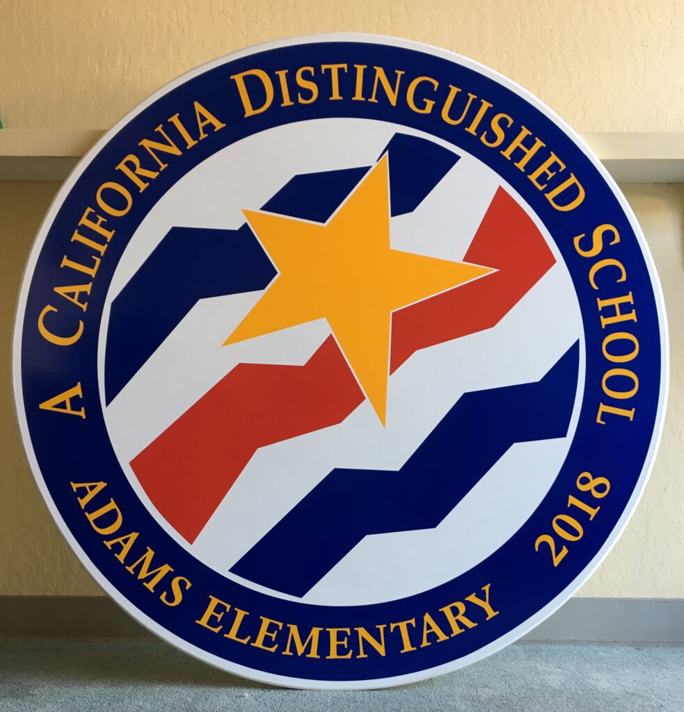 Santa Barbara school signs adams elementary award california distinguished
