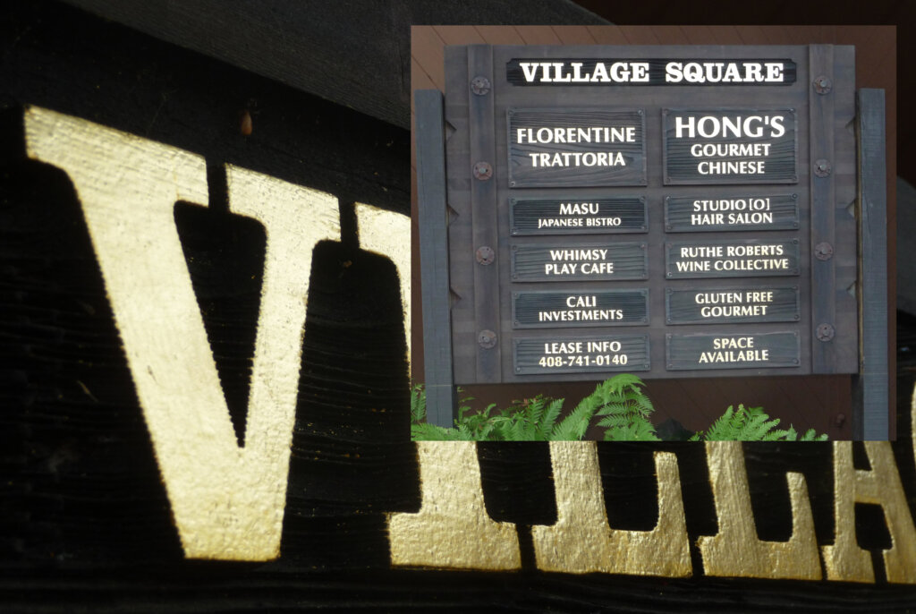 Saratoga dimensional letters sign village square final