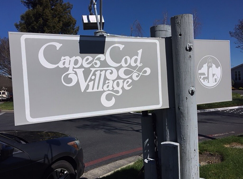 Sunnyvale custom signs apartment cape cod village after