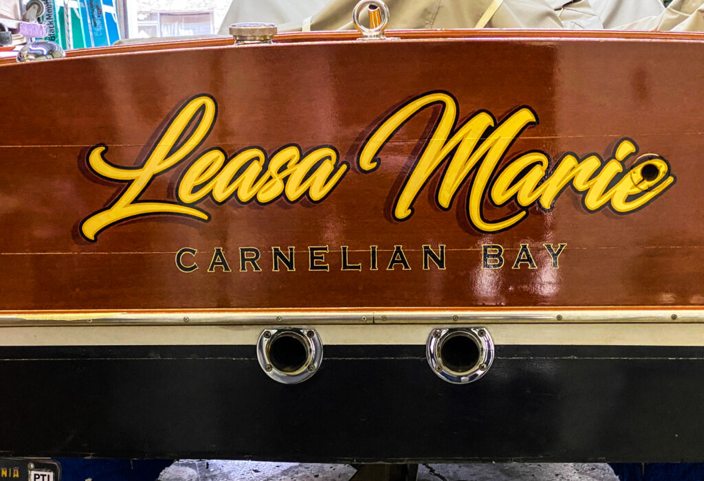 custom boat transom carnelian bay leasa marie california