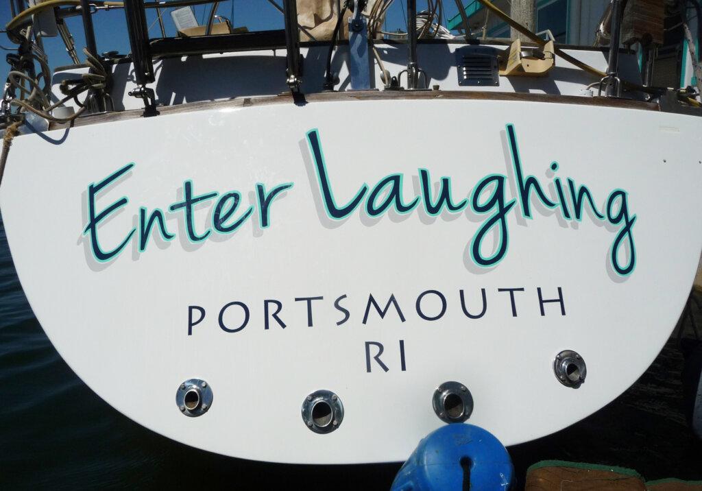 custom boat transom emma II california