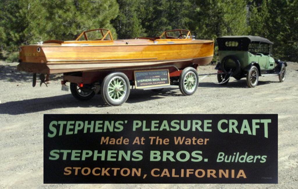 custom boat transom florence stephens bros california
