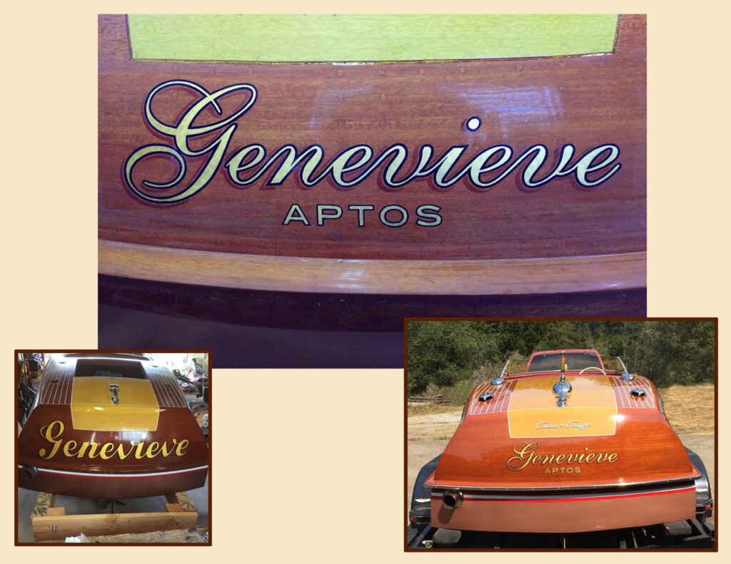custom boat transom genevieve aptos california