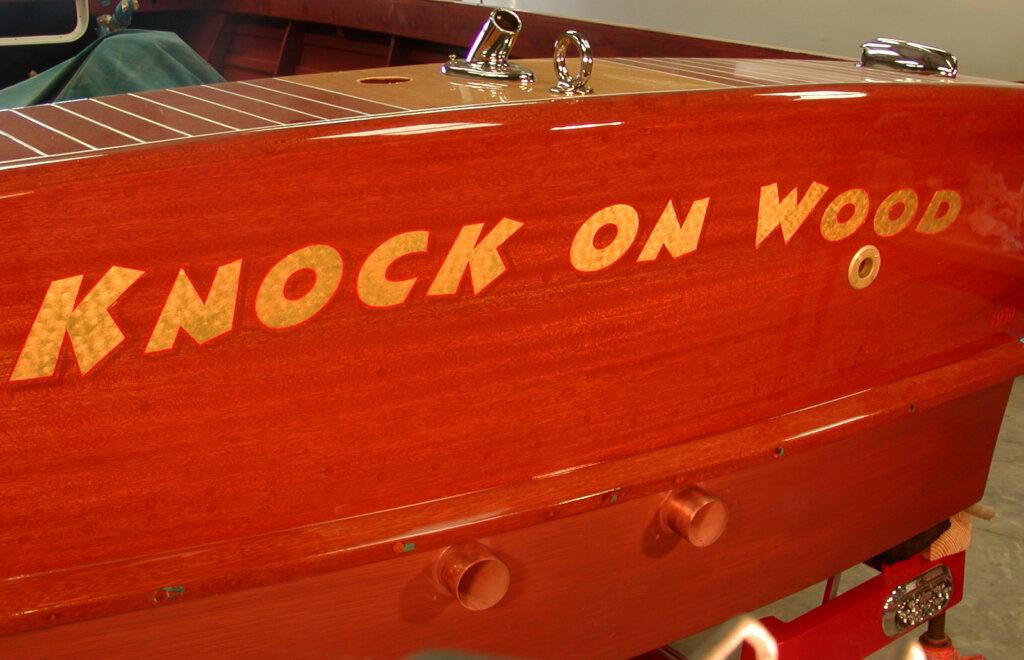 custom boat transom knock on wood california