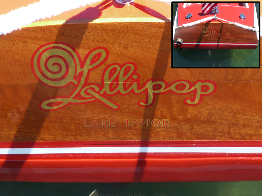 custom boat transom lollipop lake tahoe california