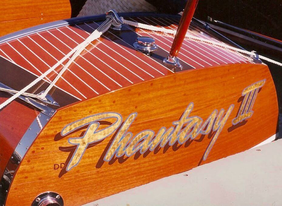 custom boat transom phantasy III final california