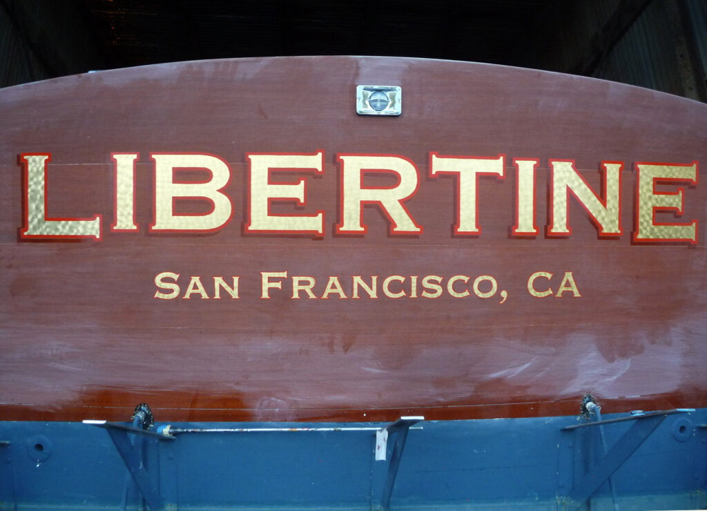 custom boat transom san francisco libertine california