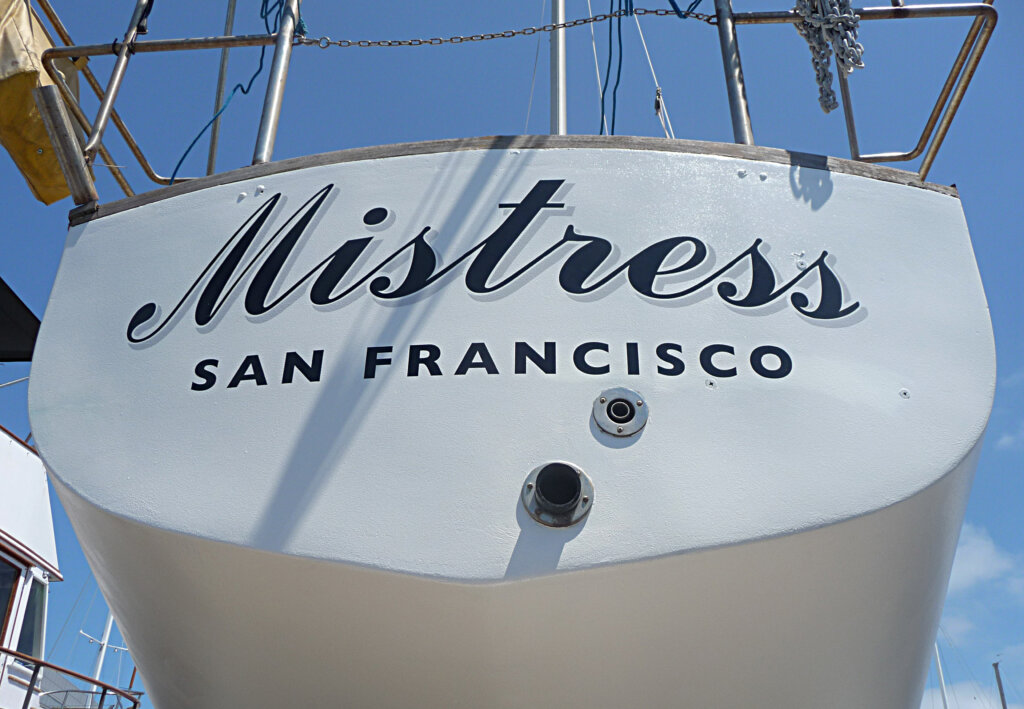 custom-boat transom san francisco mistress california